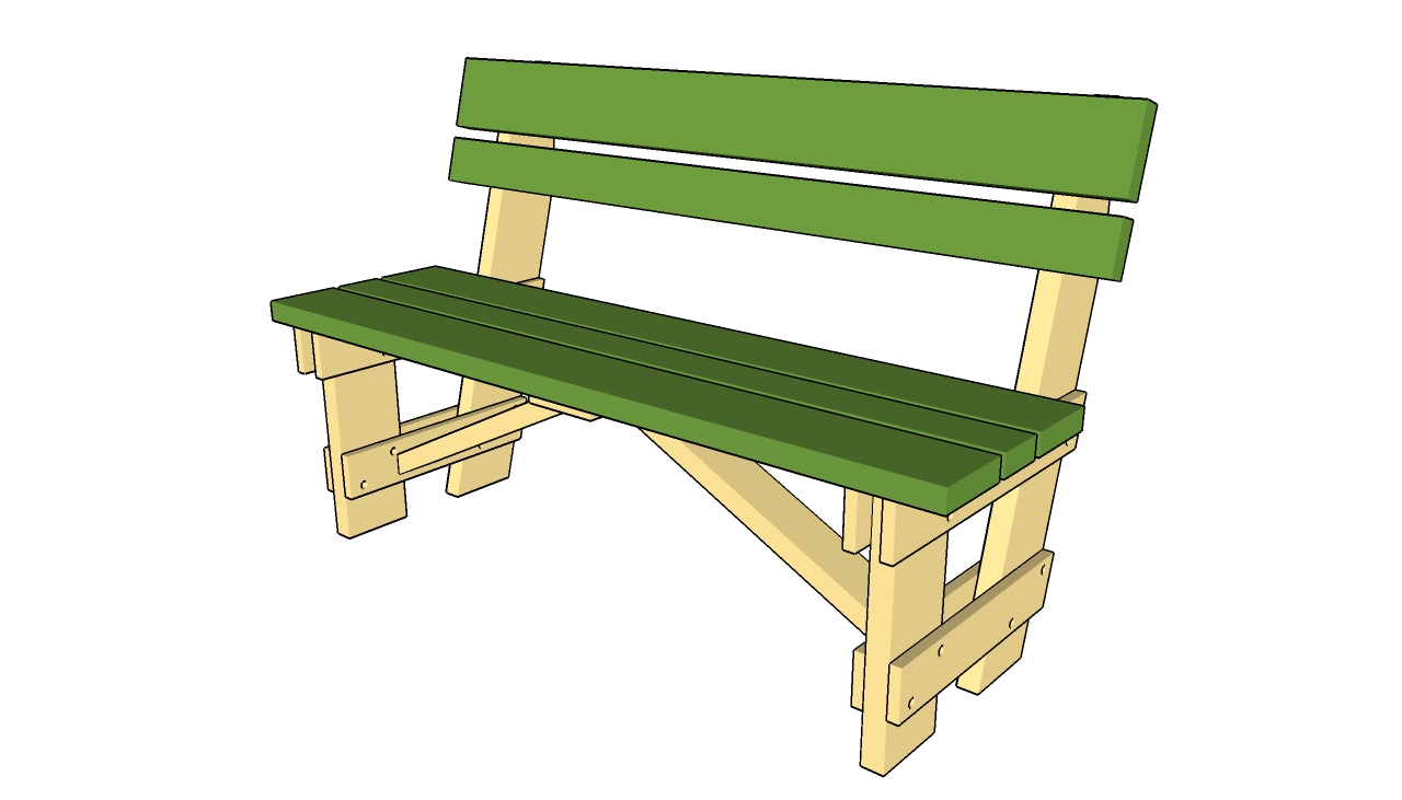 wood bench plan